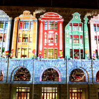 Perth City Christmas Projections on the GPO
